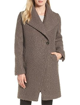 T Tahari Woman's Sheila Bouclé Knit Coat French Grey by T Tahari