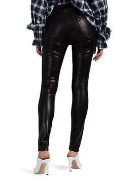 Maria Faux Leather High Rise Skinny Jeans by J Brand
