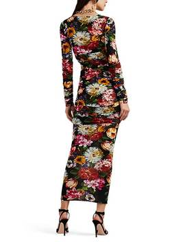 Floral Jersey Fitted Dress by Dolce & Gabbana