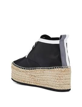 Leather Platform Chukka Espadrille by Pierre Hardy