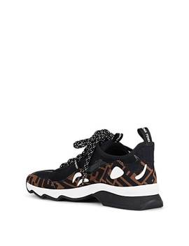 Women's Logo Stamped Tech Fabric & Mesh Sneakers by Fendi