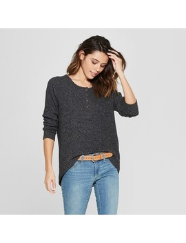 Women's Long Sleeve Cozy Henley   Universal Thread™ by Universal Thread