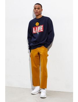 Altru Apparel Life Floral Logo Crew Neck Sweatshirt by Urban Outfitters