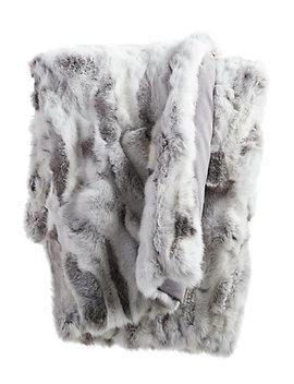 Adrienne Landau Fur Throw by Adrienne Landau