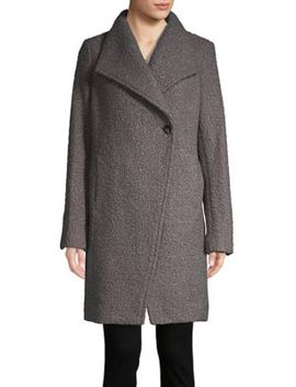 Asymmetric Topper Coat by T Tahari