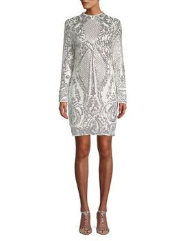 Long Sleeve Sequined Dress by Quiz