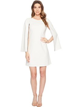 Crepe Shift Dress With Long Sleeve Slit Detail by Donna Morgan