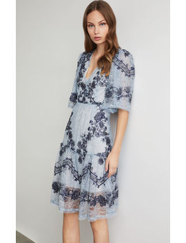 Floral Vine Embroidered Lace Dress by Bcbgmaxazria