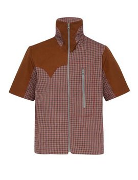 Checked Zip Through Short Sleeved Cotton Shirt by Boramy Viguier