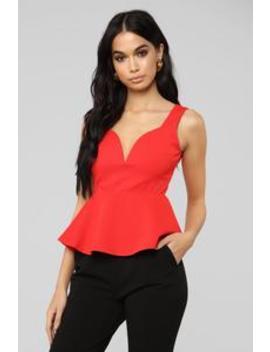 Impress Me Peplum Top   Red by Fashion Nova