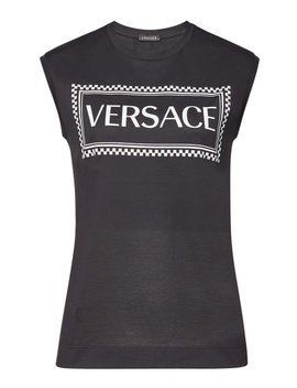 Printed Cotton Tank by Versace
