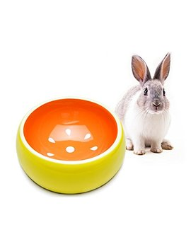 Mkono No Tip Ceramic Rabbit Food Bowl Feeder For Guinea Pig Hamster Chinchilla by Mkono