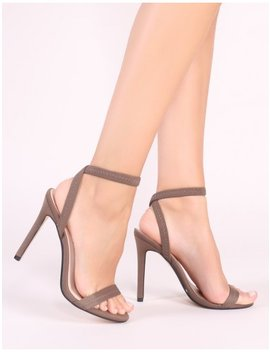 Abyss Barely There Heels In Khaki by Public Desire