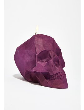 Face Melting Skull Candle by Candellana