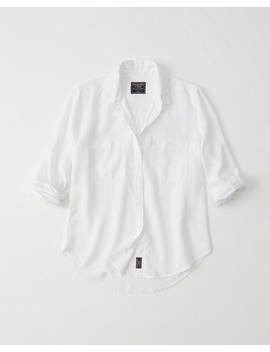 Tencel Button Up Shirt by Abercrombie & Fitch
