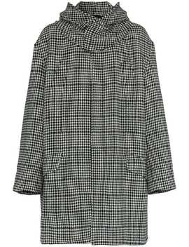 Houndstooth Padded Parka Coat by Raf Simons