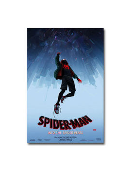 Spider Man Into The Spider Verse Movie Art Silk Canvas Poster 12x18 24x36 Inch by Ebay Seller