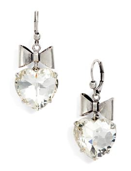 Heart & Bow Drop Earrings by Tory Burch