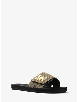 Mk Logo Chain Mesh Slide by Michael Michael Kors