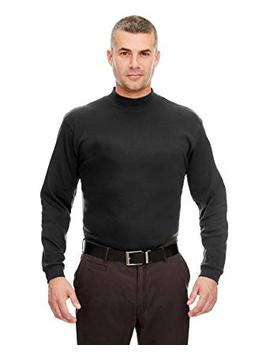 Ultra Club Men's Egyptian Interlock Long Sleeve Mock Turtleneck T Shirt by Ultra Club