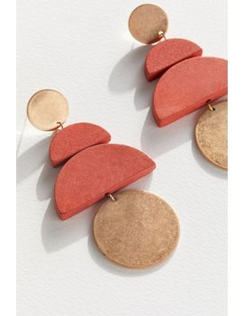 Jana Wood Statement Drop Earring by Urban Outfitters