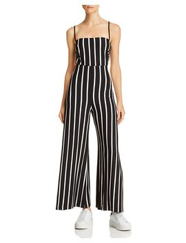 Strappy Striped Jumpsuit by Olivaceous