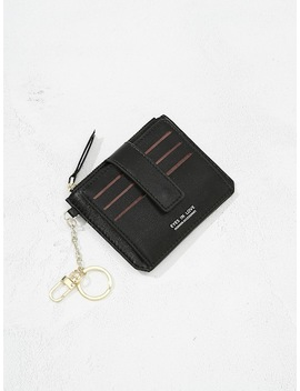 Letter Print Pu Card Pouch by Sheinside
