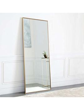 "Neu Type Full Length Mirror Standing Hanging Or Leaning Against Wall, Large Rectangle Bedroom Mirror Floor Mirror Dressing Mirror Wall Mounted Mirror, Gold Solid Wood Plaster Frame, 65""X22"" by Neu Type"