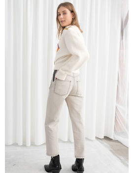 High Waisted Cotton Twill Pants by & Other Stories