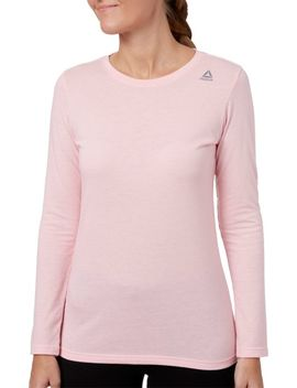 Reebok Women's Core Cotton Jersey Long Sleeve Shirt by Reebok