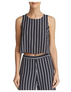 Striped Cropped Tank   100 Percents Exclusive by Aqua