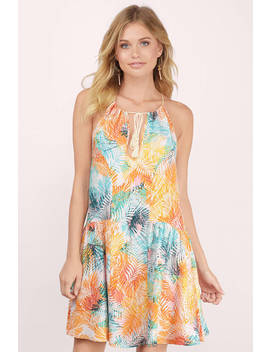 Somedays Lovin Rahpi Multi Palm Print Swing Dress by Tobi