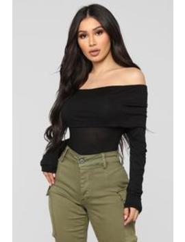 Victoria Long Sleeve Top   Black by Fashion Nova