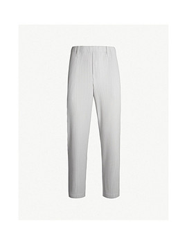 Slim Basics Regular Fit Pleated Crepe Pants by Homme Plisse Issey Miyake