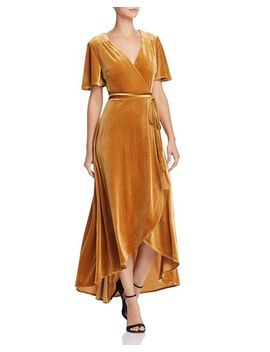 Velvet Maxi Wrap Dress   100 Percents Exclusive by Happily Grey X Aqua