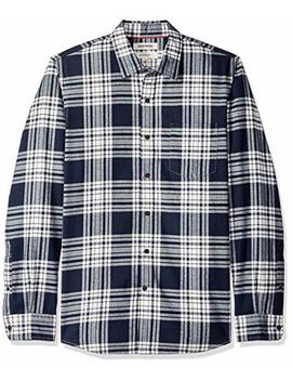 Goodthreads Men's Slim Fit Long Sleeve Brushed Flannel Shirt by Goodthreads