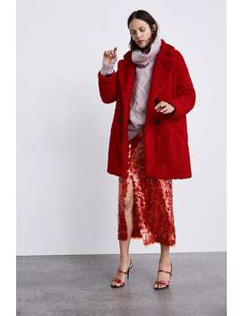 Cappotto Texture Montone Sintetico Colorato  Winter Evening Dress Time Donna Corner Shops Saldi by Zara
