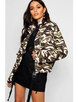 Camo Utility Jacket by Boohoo