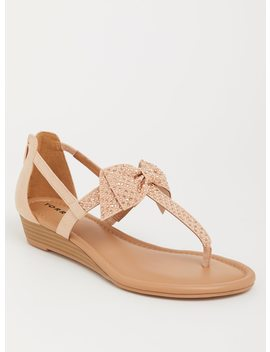 Blush Bow Micro Wedge (Wide Width) by Torrid