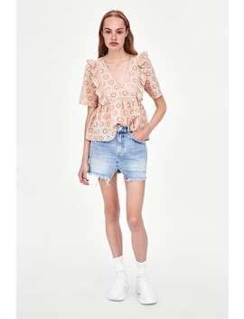 Blusa Perfurada Bordada  Ver Tudo Camisas E Blusas Mulher Saldos by Zara
