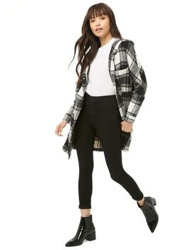 Plaid Hooded Jacket by Forever 21