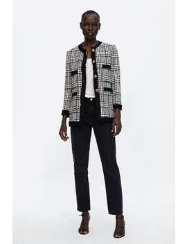 Blazer Lungo In Tweed  Blazersdonna Saldi by Zara
