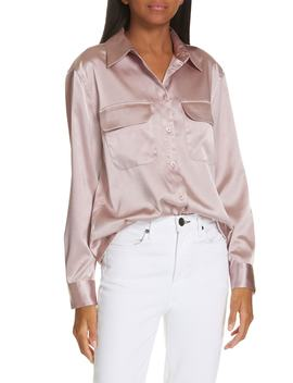 New Signature Textured Satin Blouse by Equipment