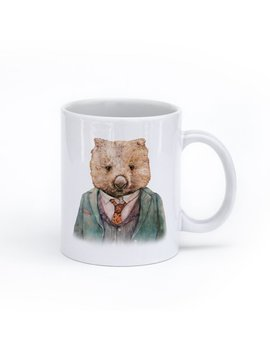 Wombat Mug, Australian Animal Mug, Cute Mug by Etsy