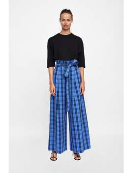Checked Trousers With Belt  From 60 Percents Off Woman Sale by Zara