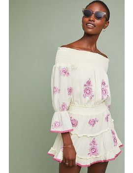 Floral Off The Shoulder Dress by Misa