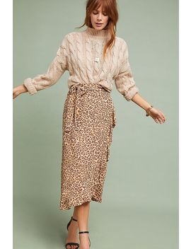 Faithfull Leopard Wrap Skirt by Faithfull