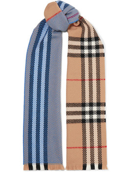 Checked Wool Scarf by Burberry
