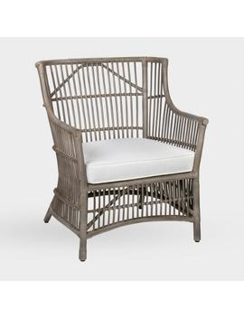 Gray Rattan Tasha Armchair With Cushion by World Market