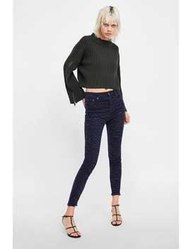 Zw Premium High Waist Black Zebra Jeans  From 60 Percents Off Woman Sale by Zara